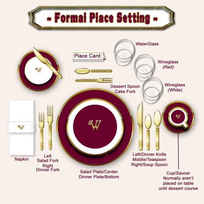 """It's that time of year where we venture into the dining room and stare at an empty table, trying to remember how to set a formal table for holiday guests. Are the forks on the right or left? This step-by-step tutorial will walk you through the basics. You know me, even when it's """"fancy,"""" I keep it real and practical."""