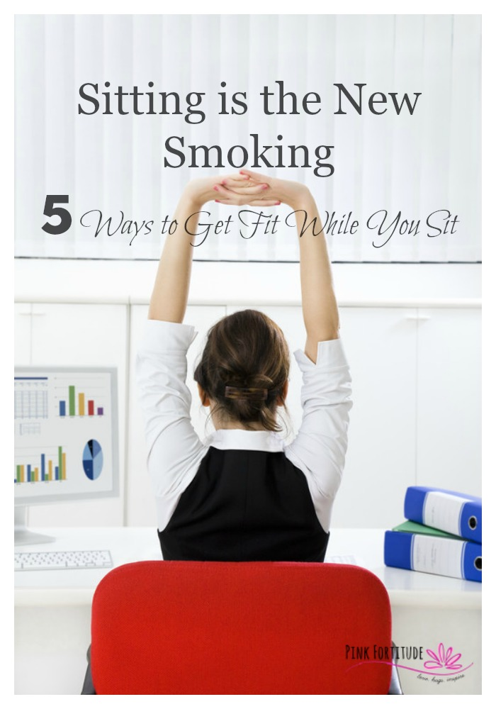 Is sitting the new smoking? Between long commutes, hours sitting at our desks, and then coming home only to crash in front of the TV, we live an extreme sedentary lifestyle. It's causing havoc on our health, but it doesn't have to. Here are five simple ways to get fit while you sit, and stay active during the most sedentary time of the day.