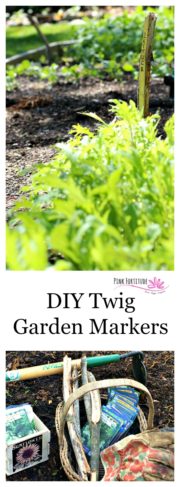 I saw these twig garden markers in a store and knew they would be super easy to create for our garden. Little did I know how easy! You gotta check out this DIY!