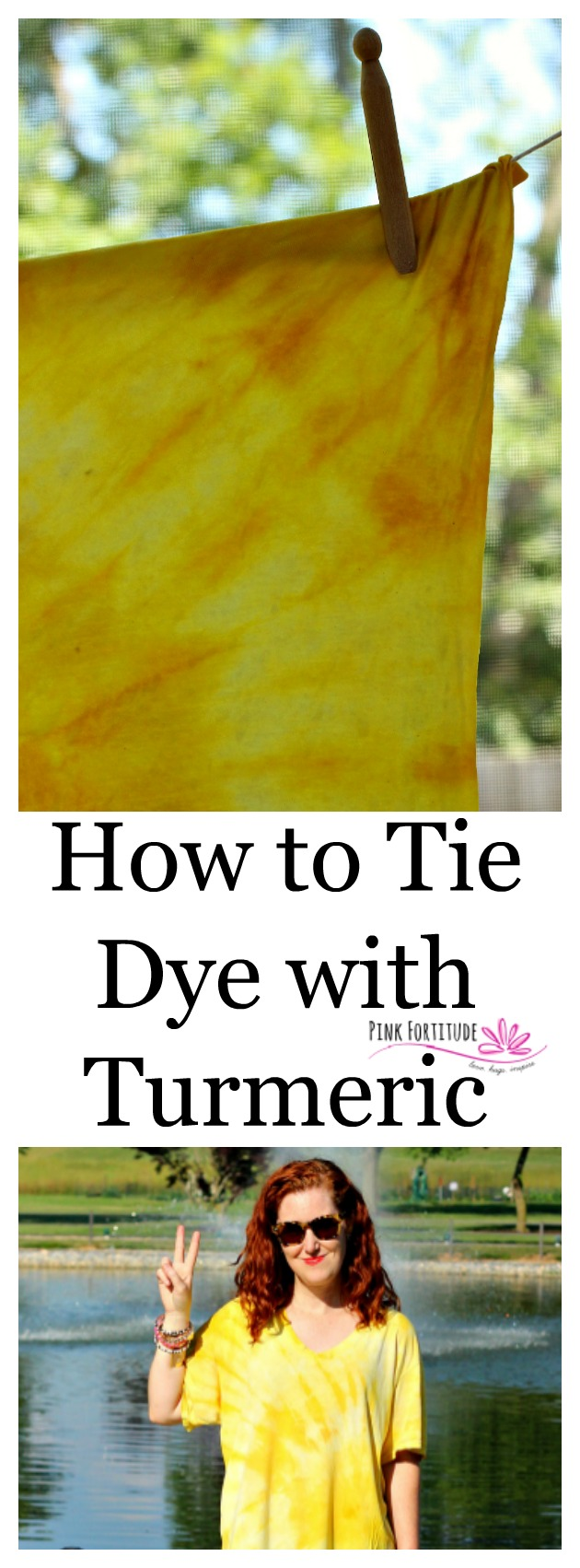 "Whether you are responding to the summer anthem of ""mom, I'm bored,"" planning matching t-shirts for an event, or just want to have a fun DIY project for yourself or a gift for someone you love, tie dying is always the answer! If you ever wondered if you could tie dye using more all-natural methods, you stumbled on the right place to learn how. Turmeric creates a brilliant yellow. Let's have some fun!"
