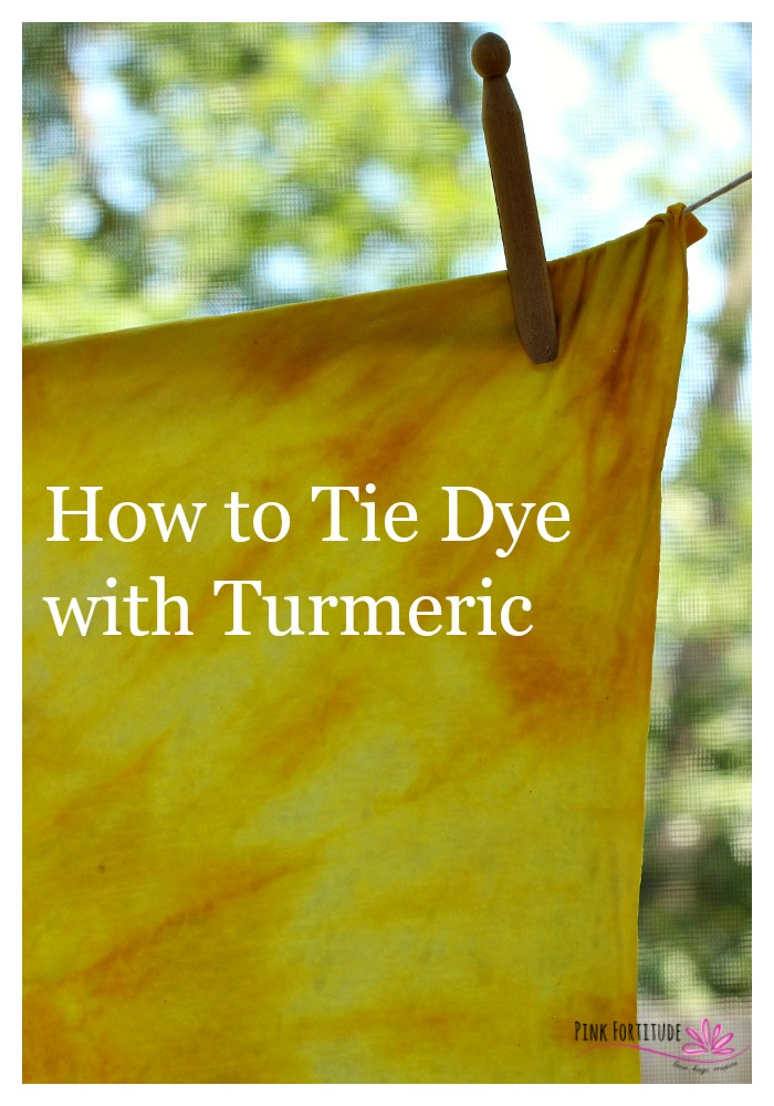 """Whether you are responding to the summer anthem of """"mom, I'm bored,"""" planning matching t-shirts for an event, or just want to have a fun DIY project for yourself or a gift for someone you love, tie dying is always the answer! If you ever wondered if you could tie dye using more all-natural methods, you stumbled on the right place to learn how. Turmeric creates a brilliant yellow. Let's have some fun!"""
