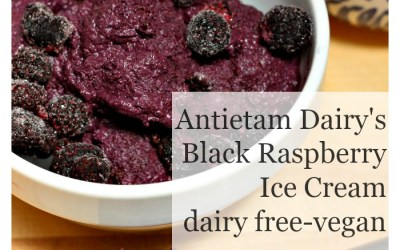 Antietam Dairy's Black Raspberry Ice Cream (dairy free/vegan)