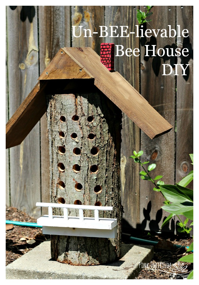You know when you get a super cool idea but you can't do it yourself? I've been learning a lot about the decline of our pollinators and wanted to make a bee house to help attract and keep these worker bees. But I didn't have the skills to make what I wanted. You are not going to bee-lieve what Hubby surprised me with.