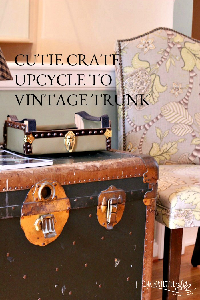 How To Upcycle A Cutie Crate Into Vintage Trunk And Stop