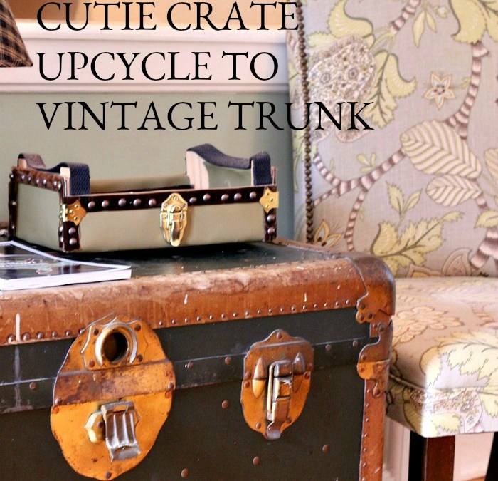 How to Upcycle a Cutie Crate into Vintage Trunk and Stop Your Entryway Clutter