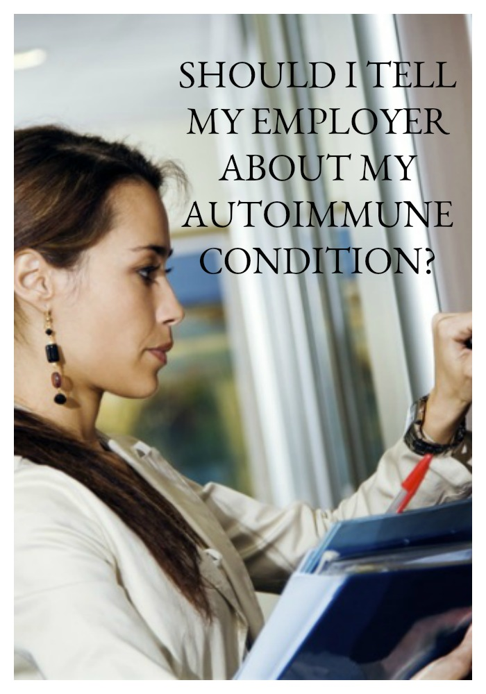 Should you notify your employer about your AI condition and disability? Unfortunately, we don't have a crystal ball to help us figure out the correct answer. I'm going to run through several scenarios that will help you to think through your answer, but the only one who can answer this question is you. Here's what you need to know...