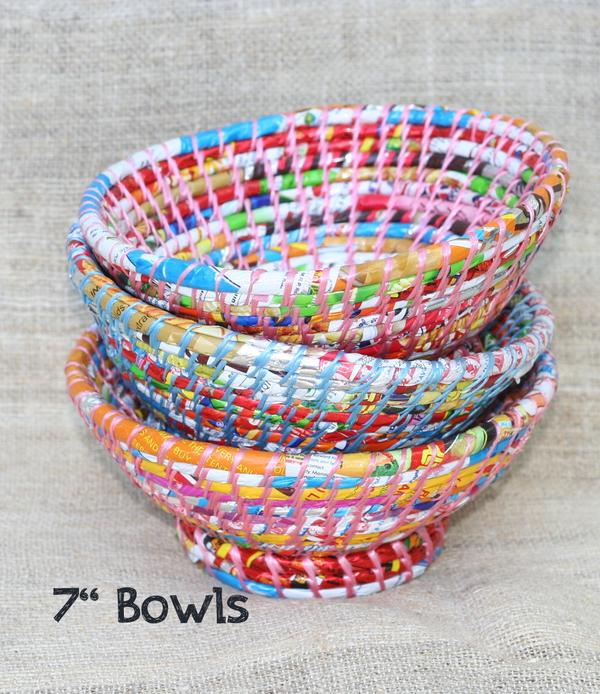 Bowls Made From Trash