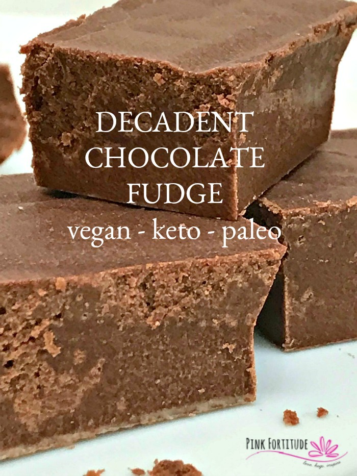 """Fudge for breakfast? Hear me out! This chocolate fudge is vegan, keto, paleo, and also made """"bulletproof"""" to help you feel full and wake up your brain. So go ahead, make some for your holiday guests, hide some for yourself, and enjoy it any time of the day. Breakfast included. PS - it's super quick and easy to make! Your secret is safe with me."""