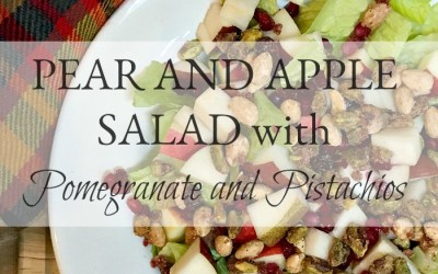 Pear and Apple Salad with Pomegranates and Pistachios