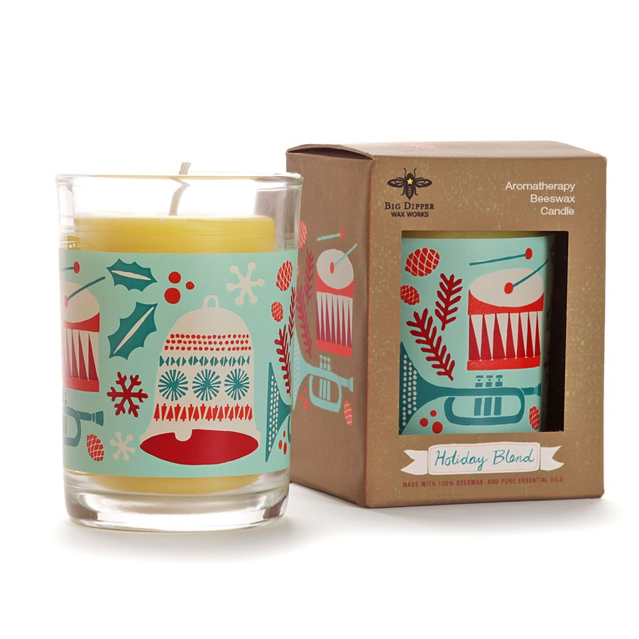 Holiday Beeswax Candle
