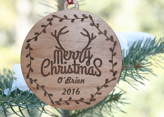 Customized Wooden Family Ornament
