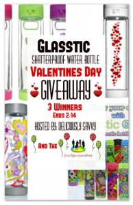 Glasstic Shatterproof Water Bottle Valentine's Day Giveaway