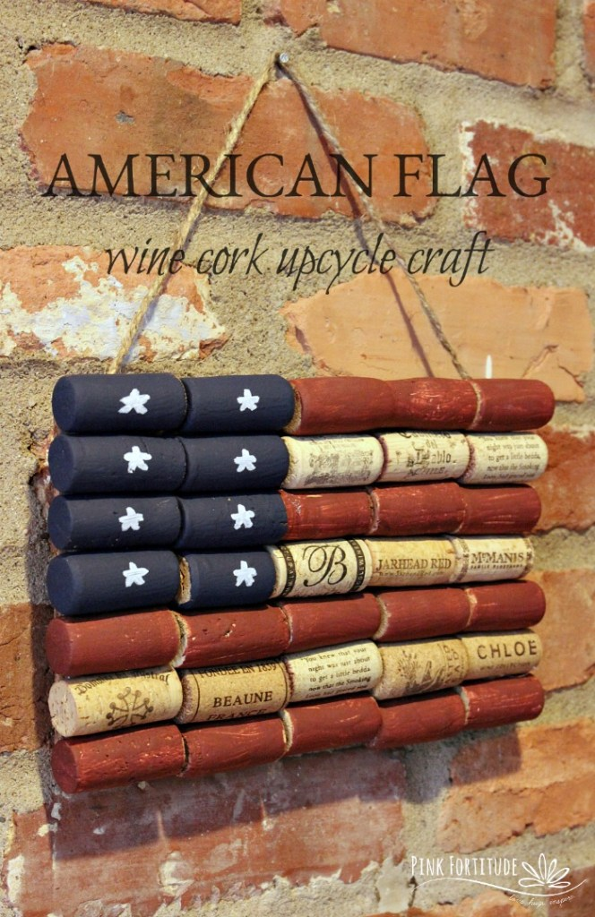 It doesn't get any more patriotic than the American flag, and this wine cork upcycle craft is not only too stinkin cute, but easy to make, and easy on the environment! It's time to get ready for Memorial Day and the 4th of July!
