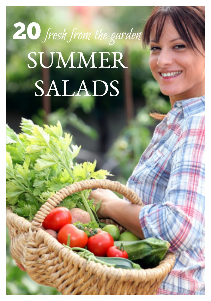 The summer bounty is upon us and what perfect time of year to make fresh from the garden summer salads! Say goodbye to boring iceberg lettuce. These 20 summer salads are gorgeous works of art - almost good enough to eat!