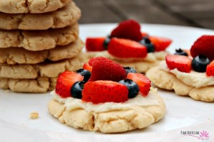 Lemon Cookies with Fruit Topping (gluten/grain free and vegan)