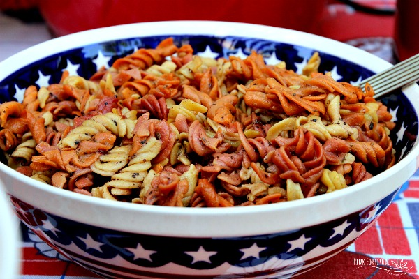 The Easiest Red, White and Blue Pasta Salad (GF/V)