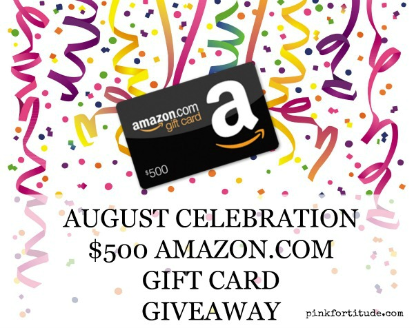 August is the month to celebrate! It's my birthday AND 8-year cancer survivorversary. Which means we want you to join our celebration with a chance to win a $500 Amazon.com gift card. Enter below...