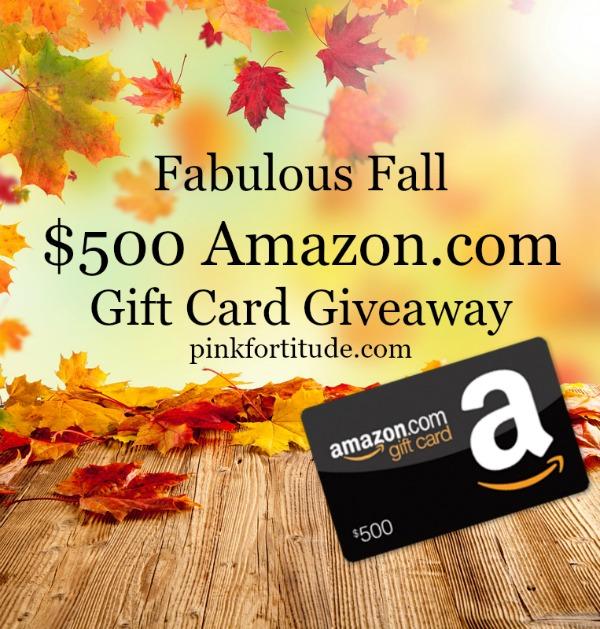 Fabulous Fall $500 Amazon Giveaway