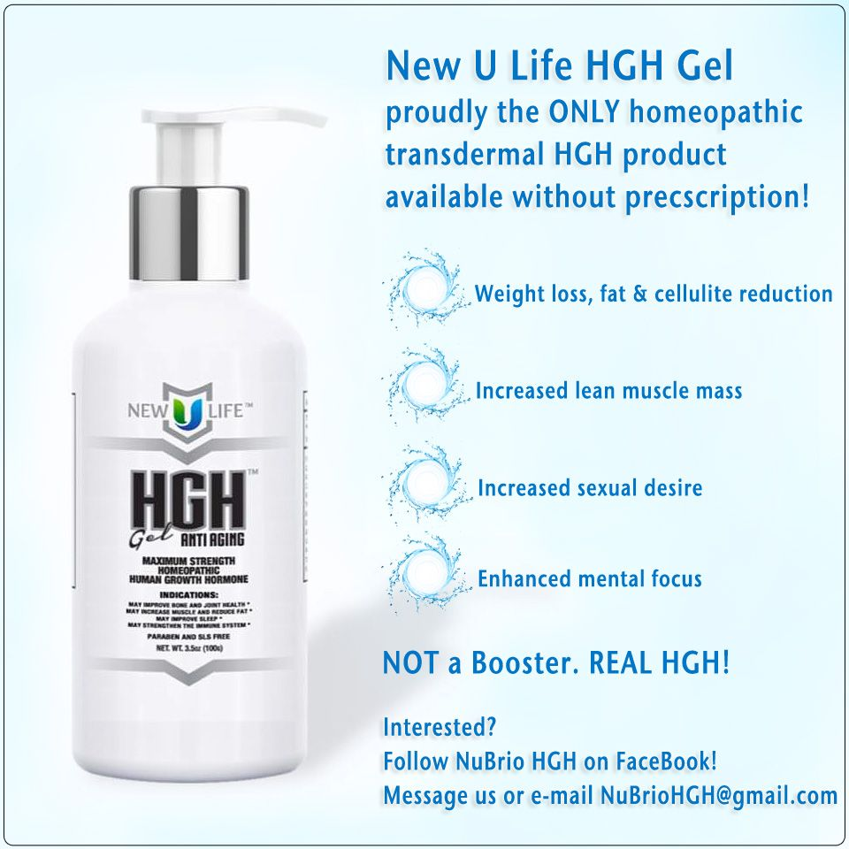 Homeopathic HGH Gel