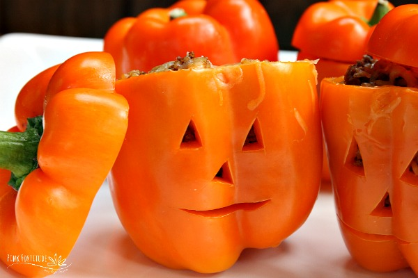 Halloween Taco Stuffed Peppers – Gluten Free
