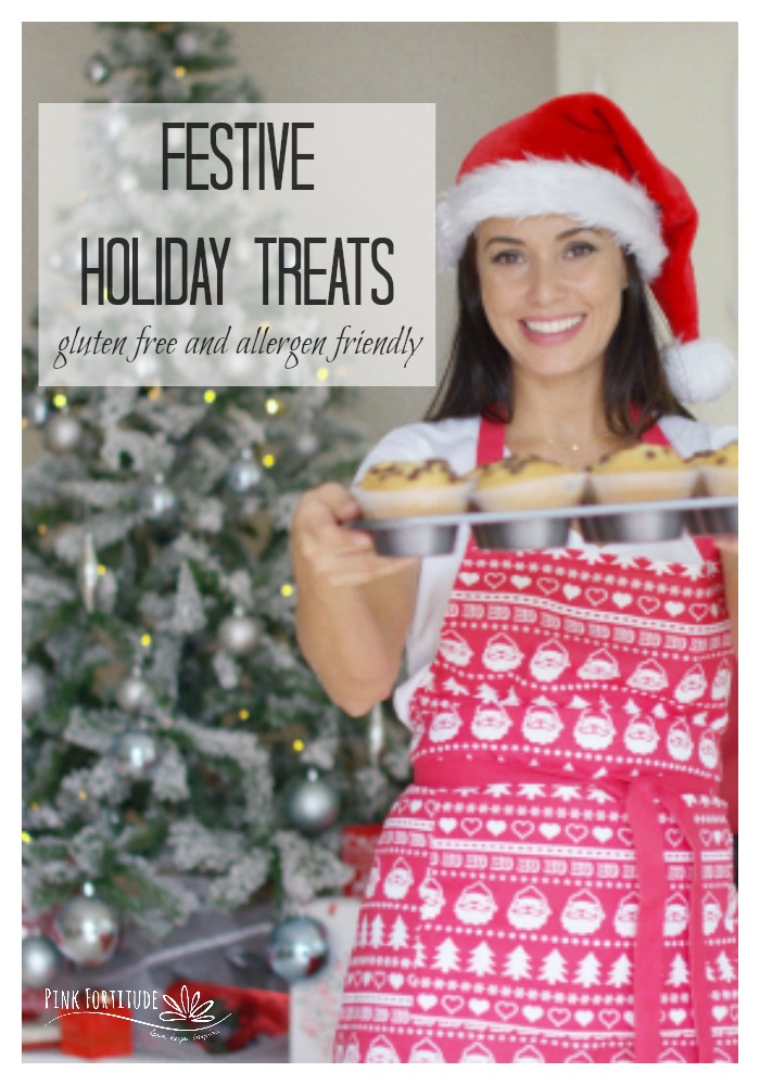 It's the holiday season, which means it's time for some serious sweets. These festive Christmas treats are gluten free and allergen friendly like dairy free, egg free, paleo, nut free, keto, and more! Whether you are baking for yourself, your child's classroom, hostess presents or gifts to give, you will love these holiday desserts. We have truffles, ice cream, brownies, cakes, and more. They are my all-time favorite! #christmas #dessert #gluten free #recipe #pinkfortitude