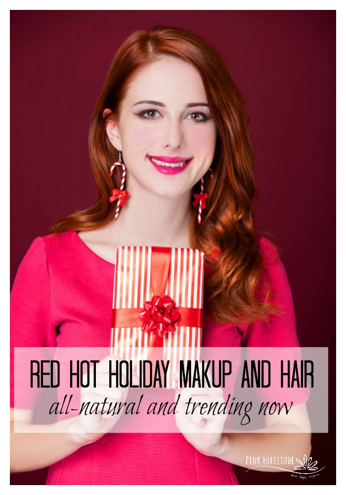 The holiday season is one of my favorite times of year. I love rocking red-hot holiday makeup and hair like it's my job. You don't have to have red hair to enjoy the season. We've got all of the top trending holiday beauty colors. I am in love with these all-natural holiday makeup and hair colors – they are great for any skin tone or hair color! How are you rocking this sparkling season?