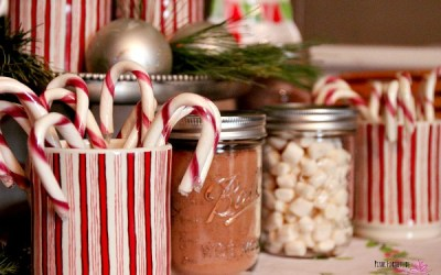 Rustic and Festive Hot Chocolate Station