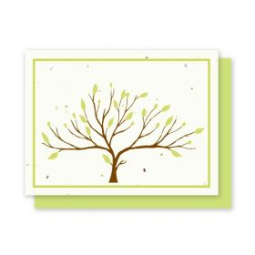 Grow-A-Note greeting cards are handmade from recycled paper and wildflower seeds.