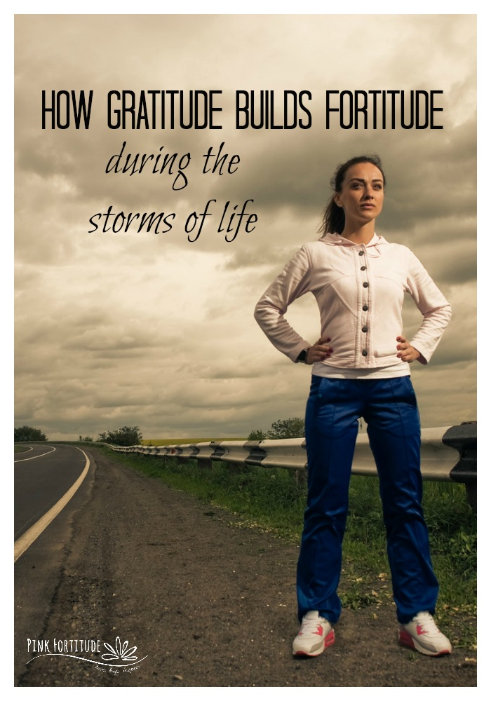 Cancer. Autoimmune Disease. Chronic Illness. Death. Financial problems. Divorce. Relationship problems. Our journey as humans doesn't always come with rainbows and puppy kisses. The rough patches are inevitable. But they don't have to be disastrous. Did you know that practicing gratitude helps to build your fortitude? Science even proves it! Read on to learn how gratitude builds fortitude during the storms of life. It's a must-have for your coping arsenal.