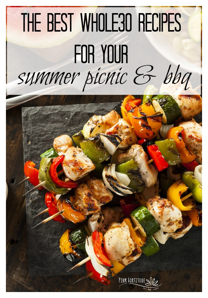 Summer is full of picnics and BBQs and Memorial Day and 4th of July parties and potlucks and neighborhood block parties. There's no need to starve if you follow the Whole30 protocol. If you are looking to cook healthier recipes for your summer entertaining, these Whole30 approved appetizers, salads, and main dishes will make you a star.