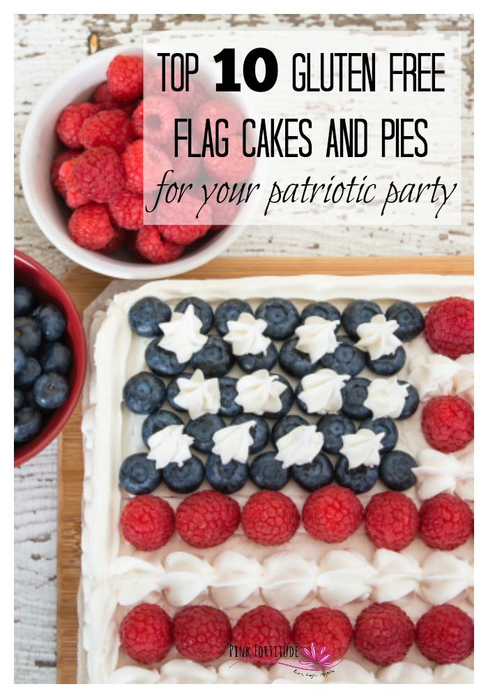 Every Memorial Day, 4th of July or Patriotic Party needs a flag cake. But what if you need to make yours gluten-free? We curated the top 10 gluten-free flag cakes and pies from some of the best bloggers on the net. Which one are you going to make for your patriotic party?