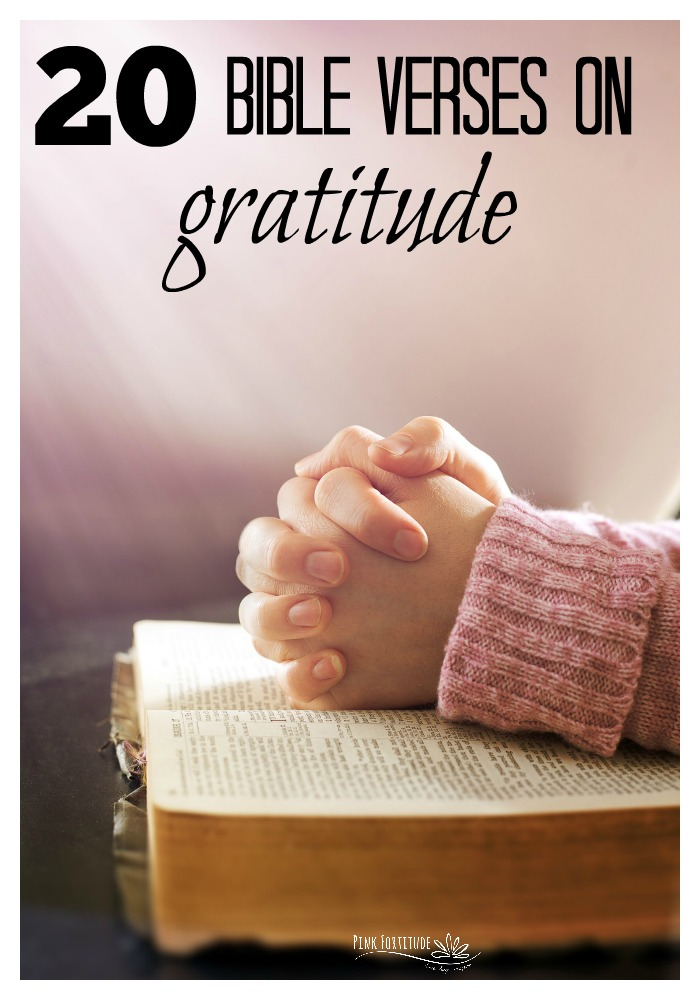Having gratitude means to be thankful. The Bible gives us beautiful scriptures in the Old and New Testaments about gratitude and thanksgiving. Here are the top 20 Bible verses on gratitude.