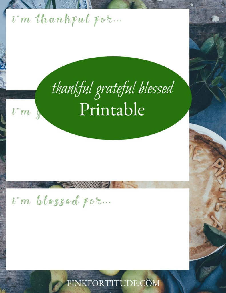 This Thanksgiving, take a few moments to share what you are thankful for, grateful for, and blessed for. Share your gratitude with your family, friends, and loved ones around the Thanksgiving table. This beautiful printable is perfect to share with all of your guests and add a meaningful tradition to your Thanksgiving Day meal.