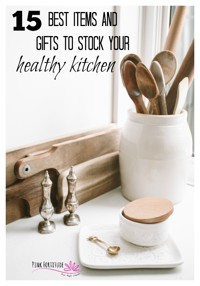 True health begins with the food you eat. And when you eat fresh and whole foods, you are going to be spending some time in the kitchen. Whether you are looking for a gift for a loved one or items for your own kitchen, these are the 15 best items and gifts to stock your healthy kitchen. Let's get cooking!