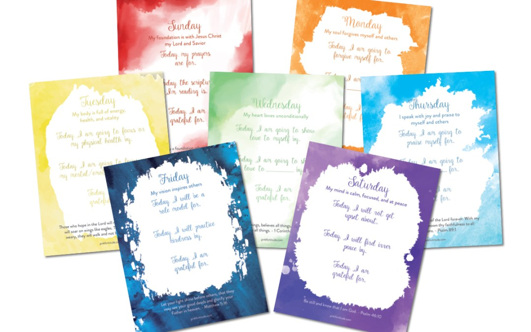 Daily Scripture + Gratitude Affirmation Printables