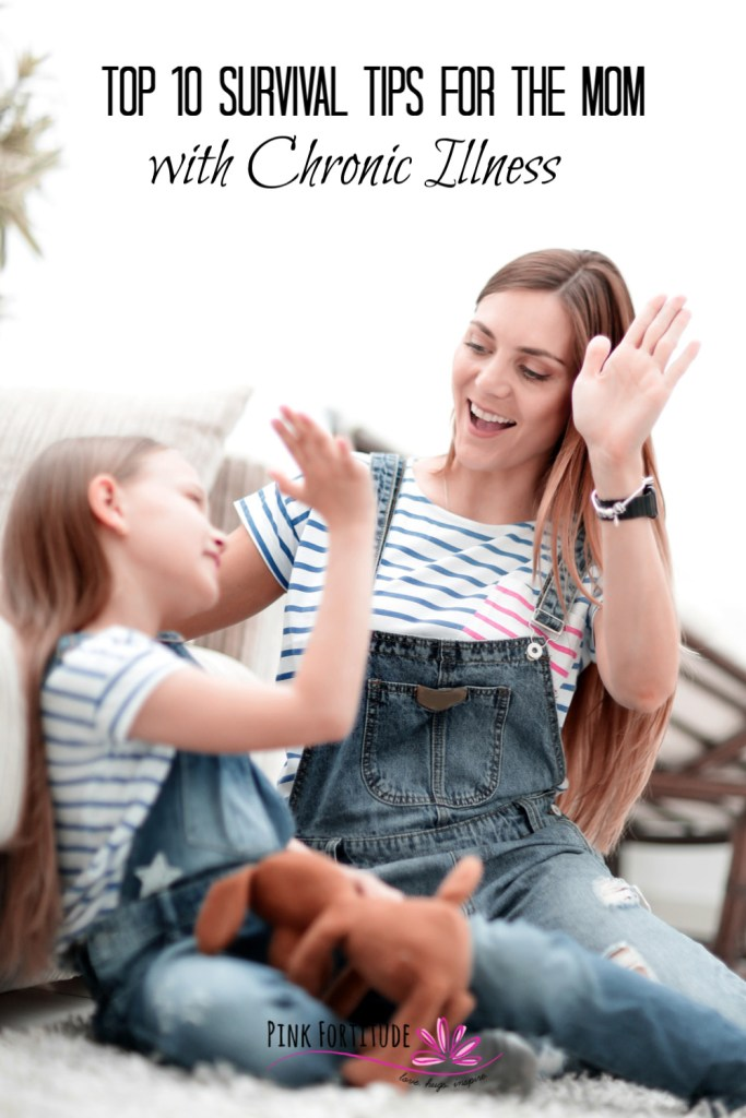 As Mom's, we juggle IT. ALL. But add some kind of chronic illness to the mix, whether it's cancer, autoimmune disease, or chronic fatigue, and every day is a struggle. I've been through the fire and put together my top 10 survival tips for the Mom with chronic illness. These Mom Hacks will help you keep your perspective even on the toughest of days. Which one is your favorite?
