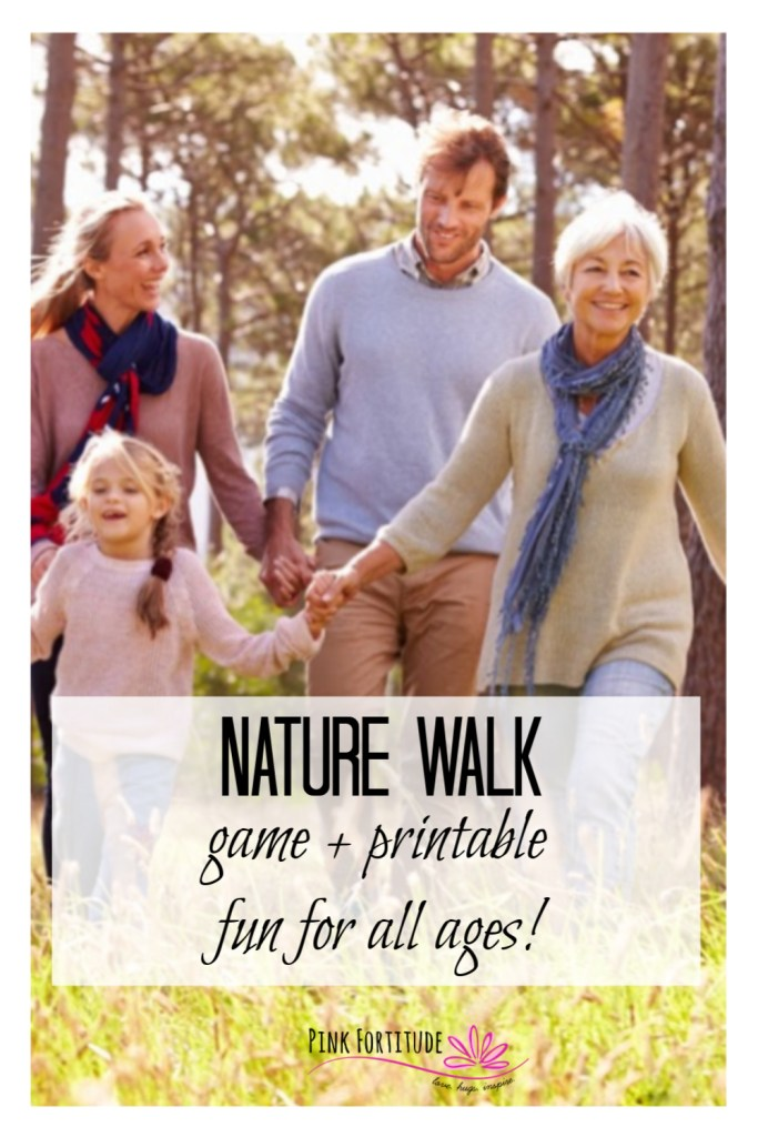 Wanna make your nature walks a little more fun and interesting? This Nature Walk Game and printable is fun for kids, adults, grandparents - the whole family!