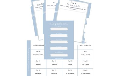Back to School Printables and Gratitude Challenge