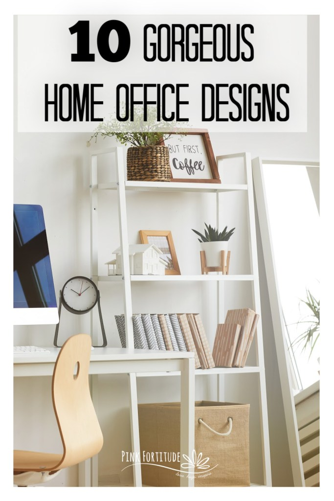 If you are in the process of creating your own office space or updating a current space, I've got 10 gorgeous home office design ideas for you! You'll get a tour of office spaces from farmhouse to glam, and dedicated spaces to small and shared spaces. Let's get ready to work!