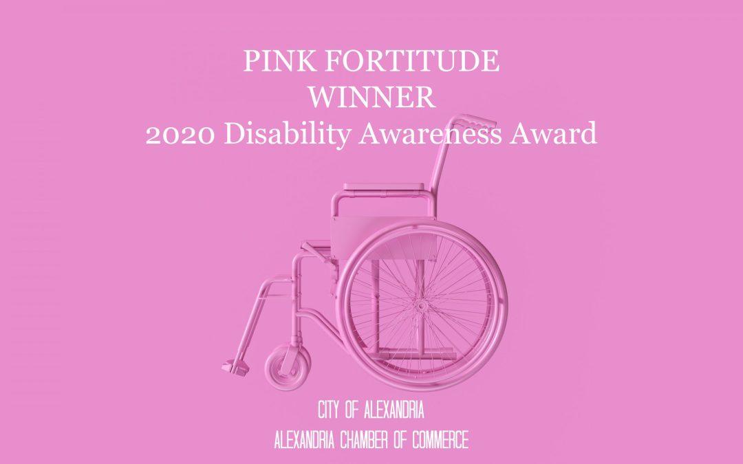 Pink Fortitude Receives 2020 Disability Awareness Award