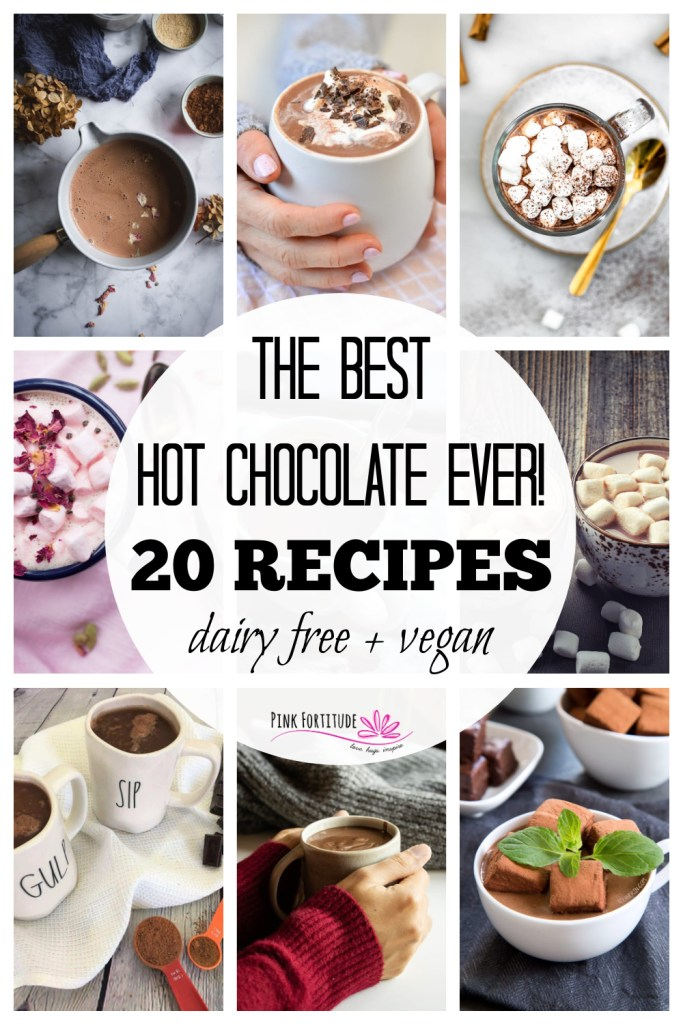 It's not officially the holiday season, Christmas, or winter until the hot cocoa is made. If you are looking for some fun new recipes, this is the place to be! We've got 20 dairy free and vegan hot chocolate recipes. Which one is the best? All of them!