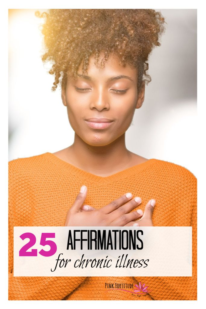 Discover how to unlock your healing power within these beautiful 25 Affirmations for Chronic Illness! Also included is a FREE printable that you can download!