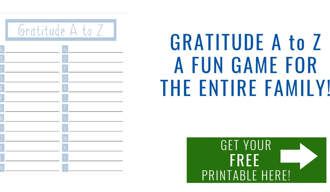 Gratitude A to Z Game and Free Printable