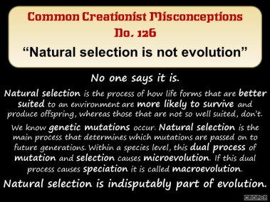 Natural selection is not evolution.
