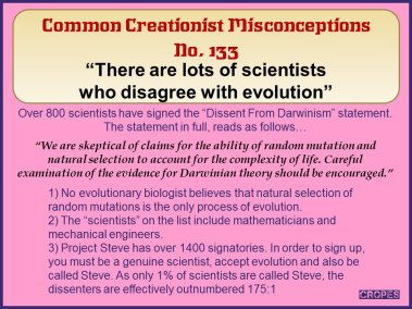 There are lots of scientists who disagree with evolution.