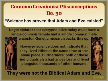Science has proven Adam & Eve existed.