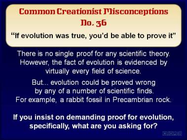 If evolution was true, you'd be able to prove it.