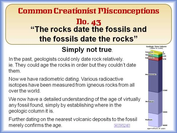The rocks date the fossils and the fossils date the rocks.