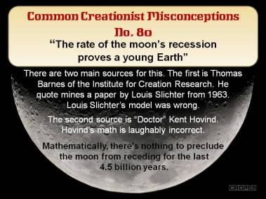 The rate of the moon's recession proves a young Earth