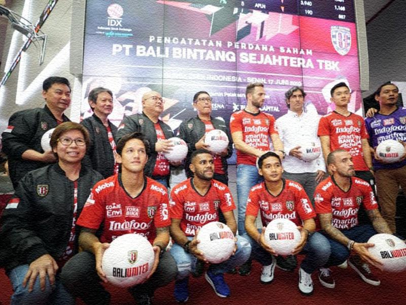 Bali United Resmi Melantai di Bursa Saham